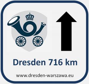 Hinweisschild Dresden