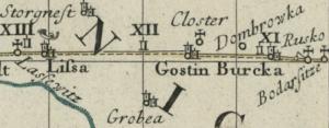 Auszug aus der Reiskarte Dresden-Warschau (1751)