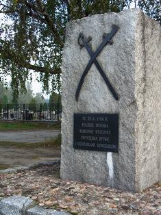 Gedenkstein an die Schlacht bei Kalisch in Kościelna Wieś