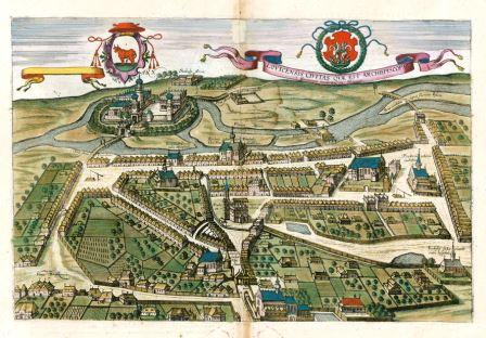 Ansicht von Łowicz (Janssonius 1657)