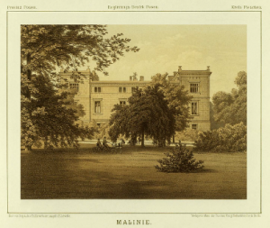 Schloss Malinie um 1860-80 (Quelle: wikipedia, Thoma)
