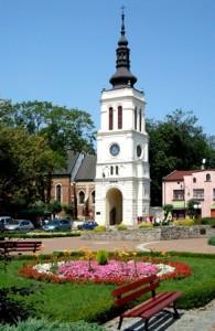 Uniejów - Glockenturm neben der Stiftskirche