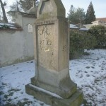 Halbmeilensäule auf der Kamenzer Straße in Höhe des Friedhofes