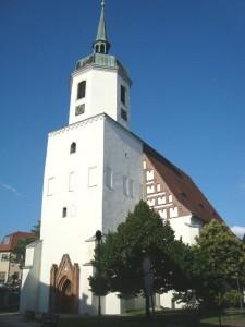 Hoyerswerda, Johanneskirche (ev. Stadtkirche von 1346 mit barocker Turmhaube)