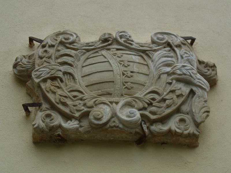 Sächsisches Wappen am Schloss in Czerna