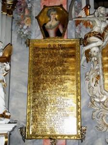 Wschowa, Grabtafel in der Franziskanerkirche