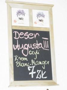 """Dessert a la August III. in der Kawiarnia """"Krendens"""", Rynek 7"""