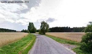 Hinaus aus Pleszew in Richtung Cieśle (Quelle: google streetview)