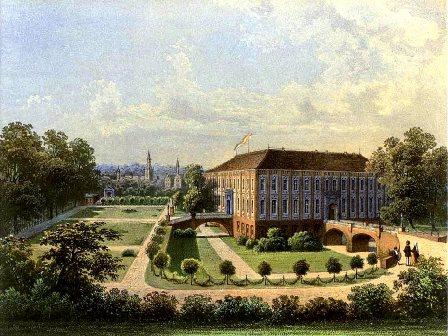 Schloss Sagan im 19. Jh. (Lithografie von Theodor Hennicke und Alexander Duncker, 1813-1897, Quelle: wikipedia)