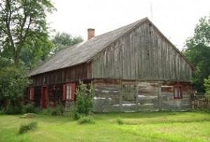 Chłopska chata w dolinie Warty