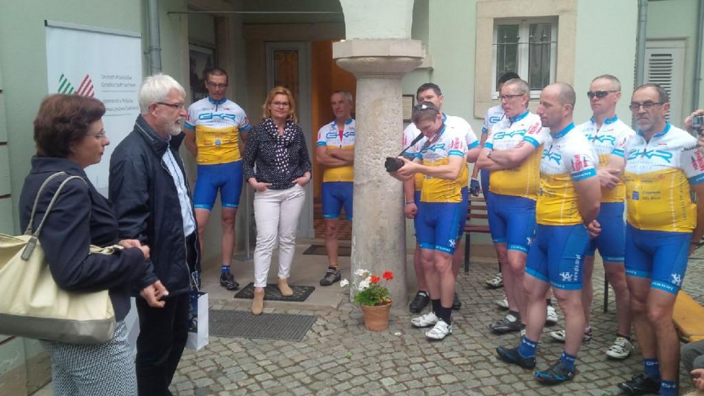 Begrüßung der Gäste aus Gostyń durch den Mit-Geschäftsführer von Gelsenwasser Polska, Johannes Pohl