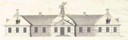 Frontpartie des Postpalais in Kutno (Quelle: www.muzeumkutno.home.pl/palac_saski)
