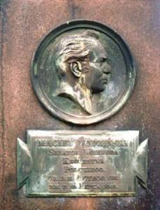 Grabstein Macjej Wodzinskis auf dem alten kath. Friedhof in Dresden