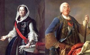 Das polnische Köngspaar Maria Josepha (1699–1757) und August III. (1696-1763)